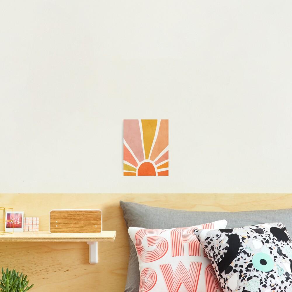 Sun, Abstract, Mid century modern kids wall art, Nursery room Photographic Print