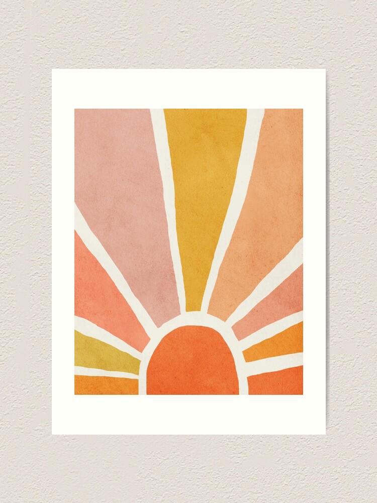 Alternate view of Sun, Abstract, Mid century modern kids wall art, Nursery room Art Print