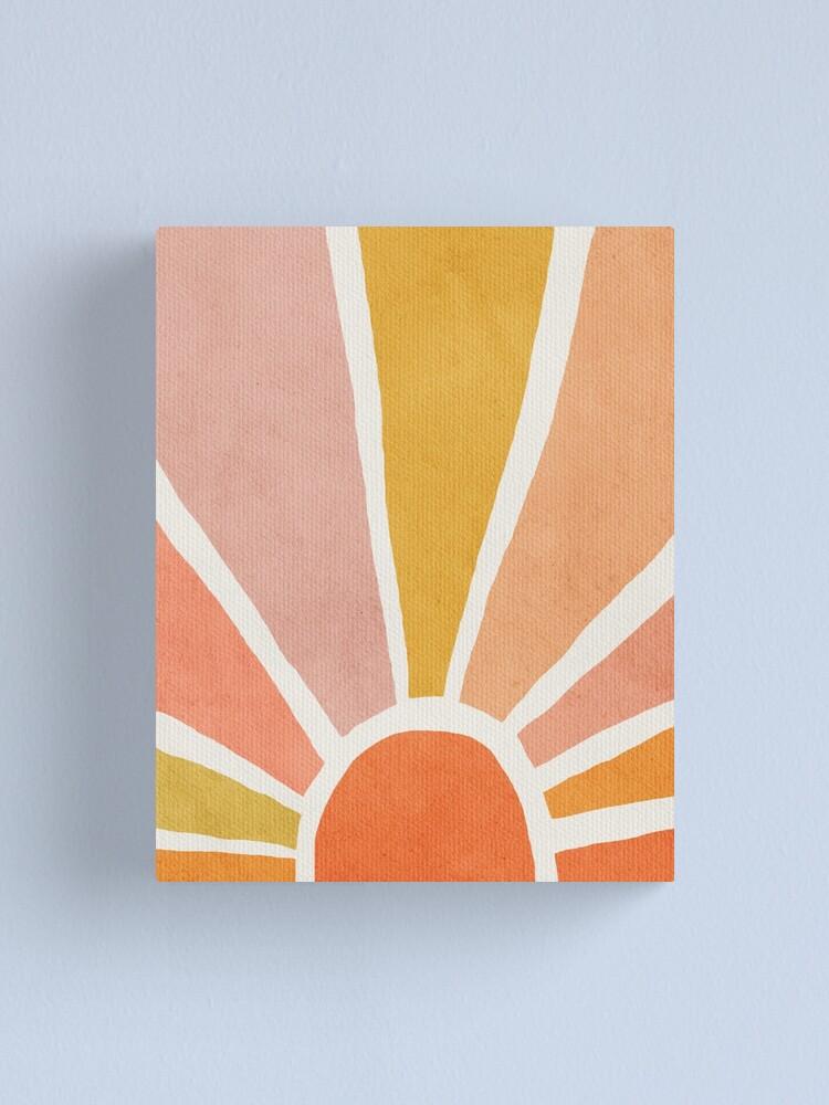 Alternate view of Sun, Abstract, Mid century modern kids wall art, Nursery room Canvas Print