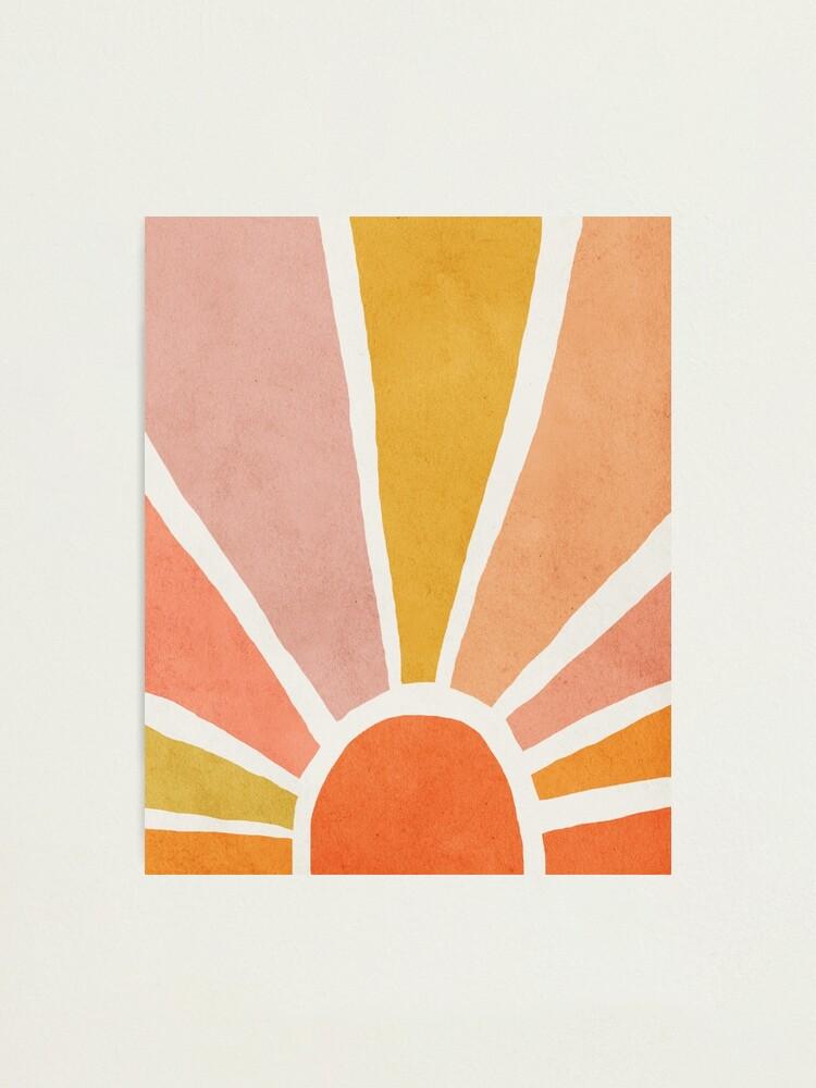 Alternate view of Sun, Abstract, Mid century modern kids wall art, Nursery room Photographic Print