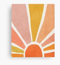 Sonne, abstrakt, Mitte des Jahrhunderts moderne Kinder Wandkunst, Kinderzimmer Leinwanddruck