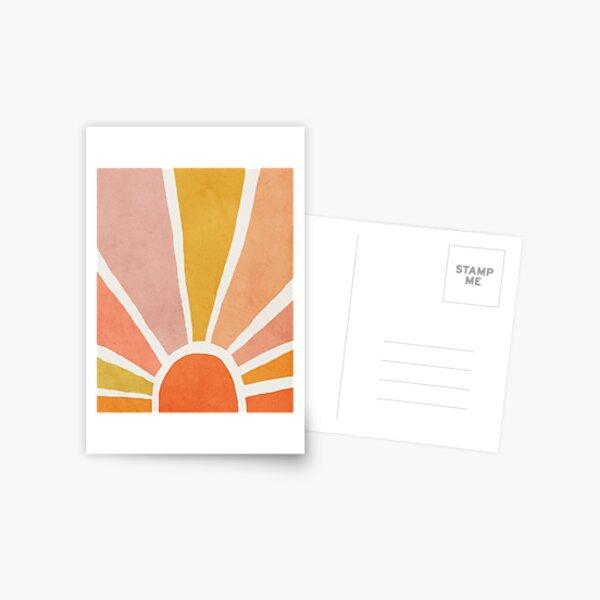 Sun, Abstract, Mid century modern kids wall art, Nursery room Postcard