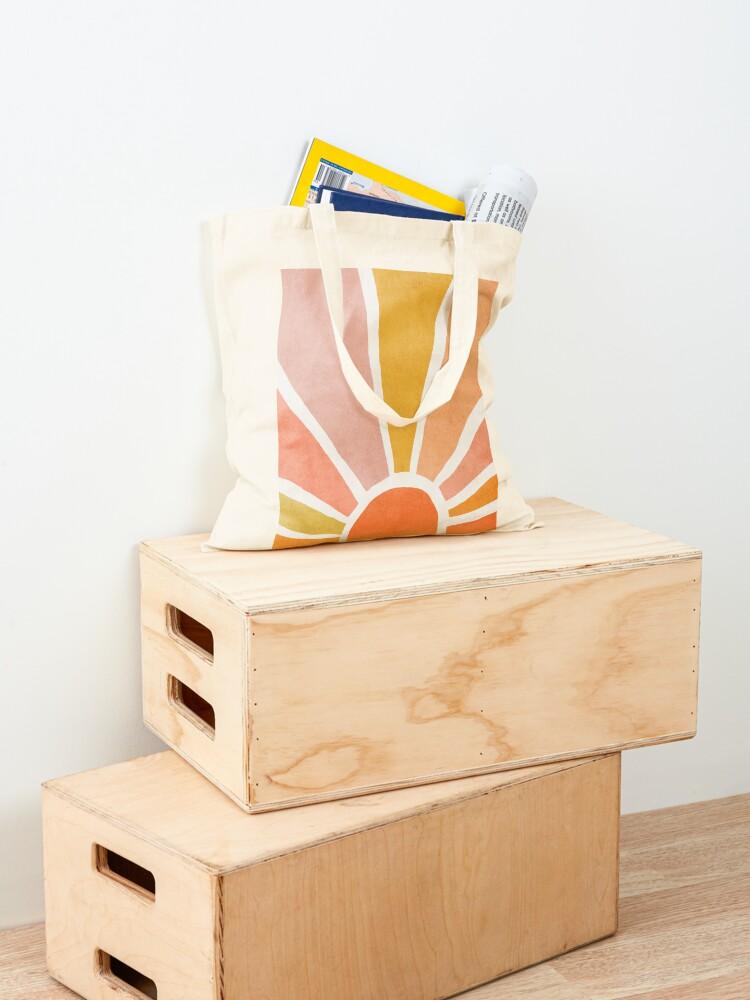 Alternate view of Sun, Abstract, Mid century modern kids wall art, Nursery room Tote Bag