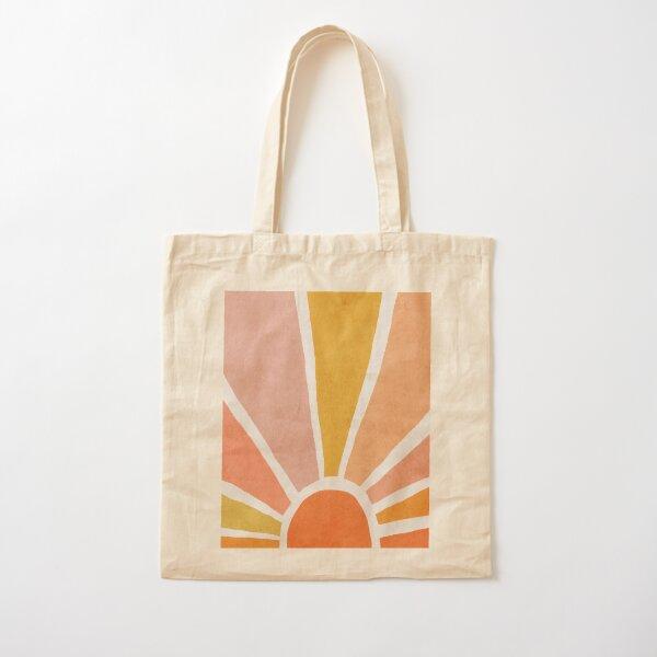 Sun, Abstract, Mid century modern kids wall art, Nursery room Cotton Tote Bag
