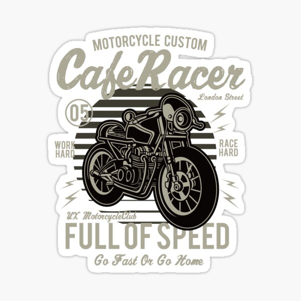 CAFE RACER MOTORCYCLE Sticker
