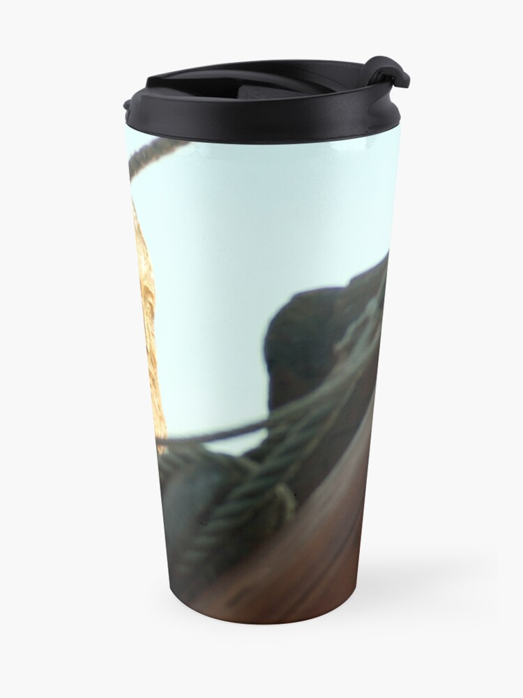 Alternate view of Sculptured head and rigging Travel Mug