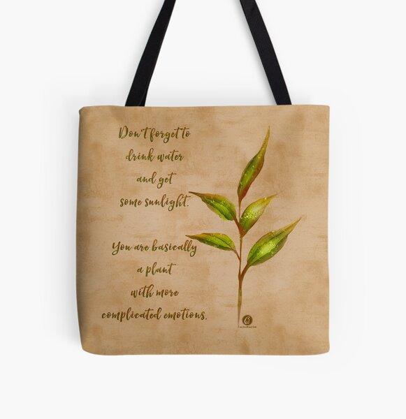 Complicated plant-botanical art All Over Print Tote Bag