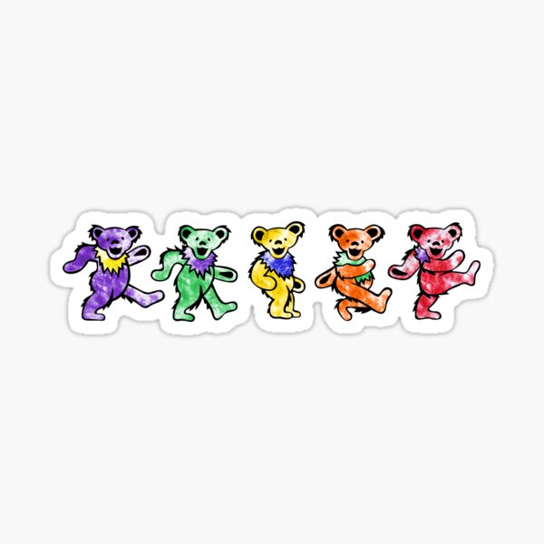 Tie Dye Bears Sticker