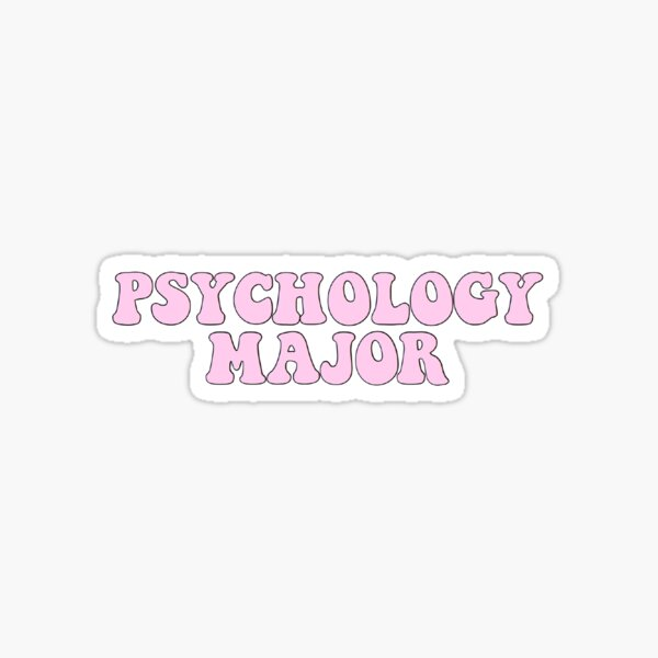 Psychology major - pink  Sticker
