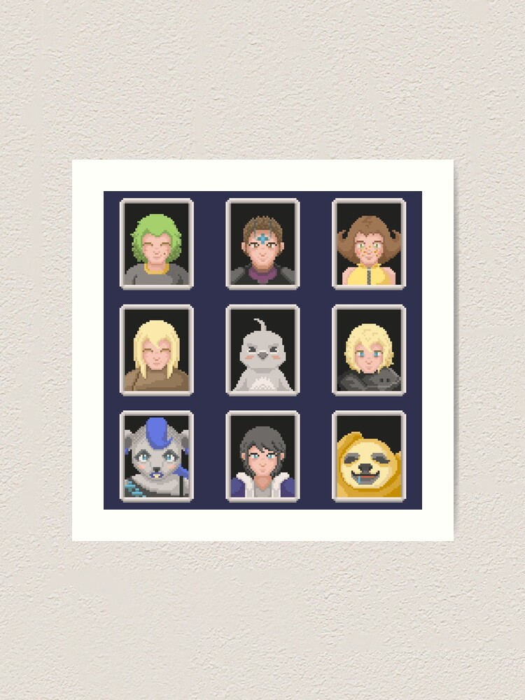Alternate view of REALM Portraits Art Print