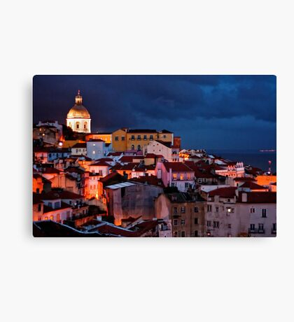 Lights of Lisboa 2 Canvas Print