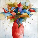 The red vase by anartistsview