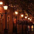 Lamps at Night by Don Baker