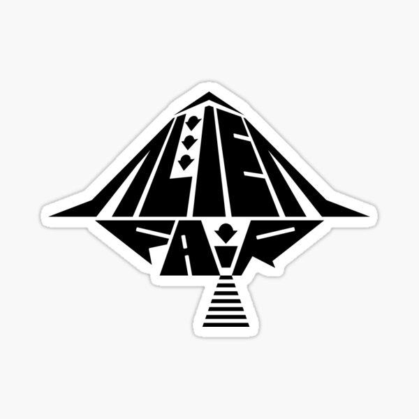 Black Alien Fair Logo Sticker