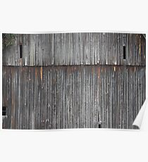 Weathered Barn Side Poster