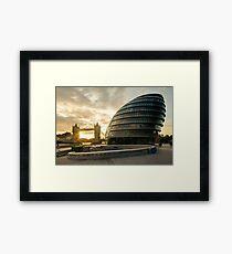 London Mayor House and the Tower Bridge Framed Print