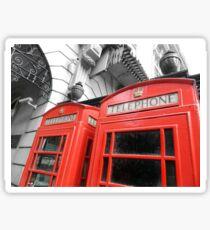 Red London Sticker