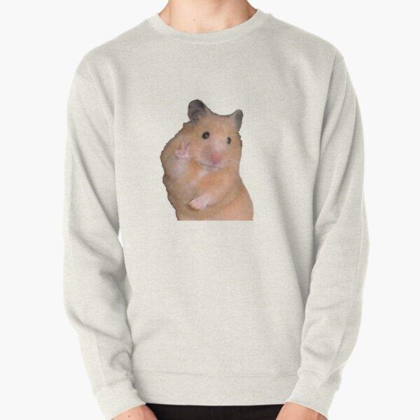Peace Sign Hamster  Pullover Sweatshirt