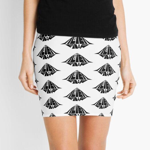 Black Patterned Alien Fair Logo Mini Skirt