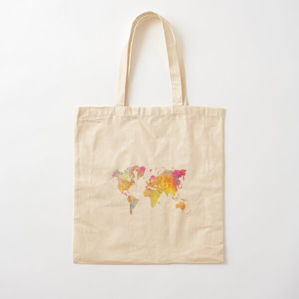 World Map  Cotton Tote Bag