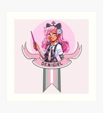 I was sorted into the Demigirl House Art Print