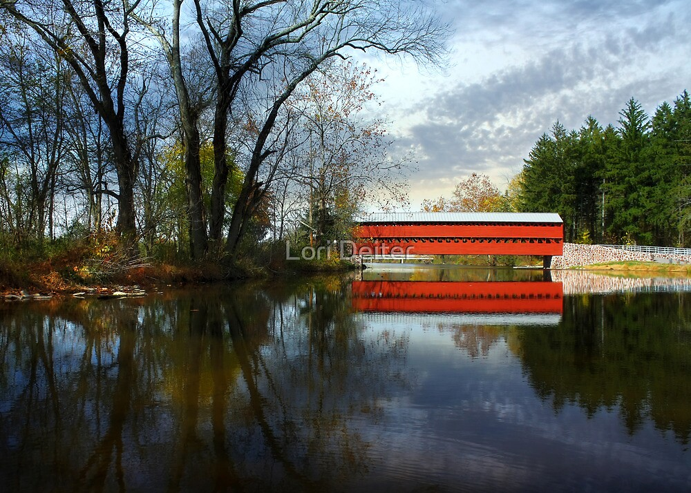 Autumn - Sachs Covered Bridge by Lori Deiter