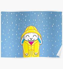 Binky-ing in the Rain Poster