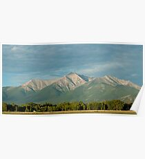Mount Princeton, Colorado At Sunrise Poster