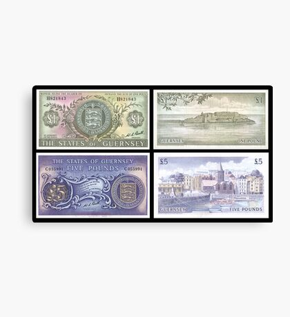 Old Guernsey Banknotes Canvas Print