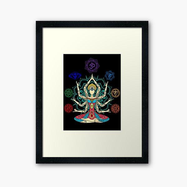 7 Chakras Framed Art Print