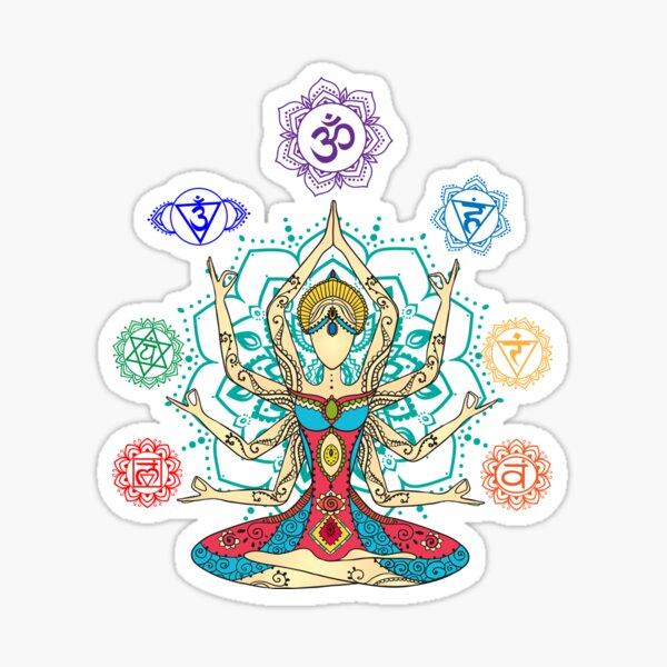 7 Chakras Sticker