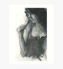 split ends in charcoal Art Print