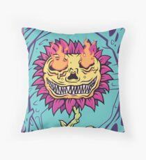 Doom Flower Throw Pillow