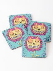 Doom Flower Coasters