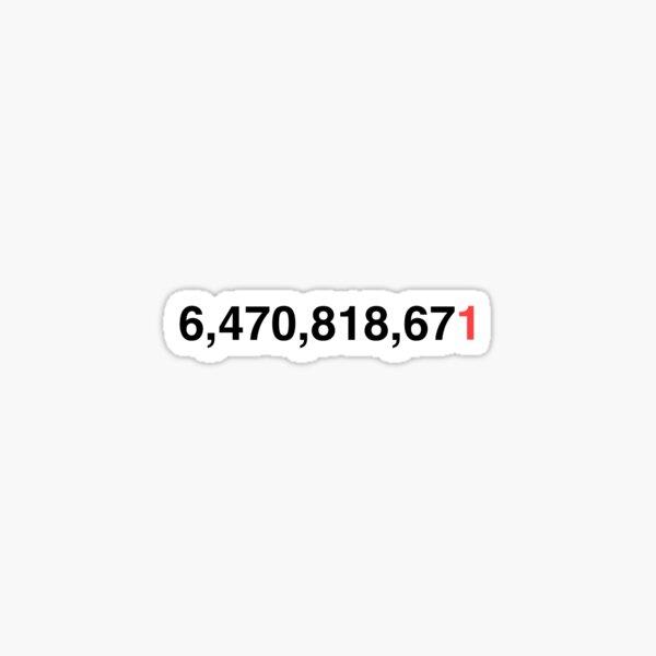6 Billion People Sticker