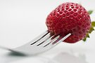 Strawberry on a Fork by April Koehler