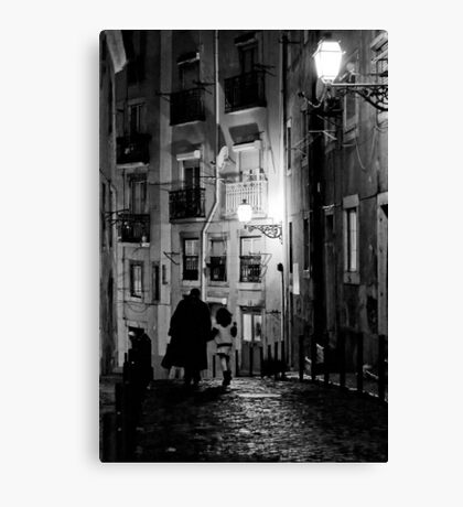 Little dark street Canvas Print