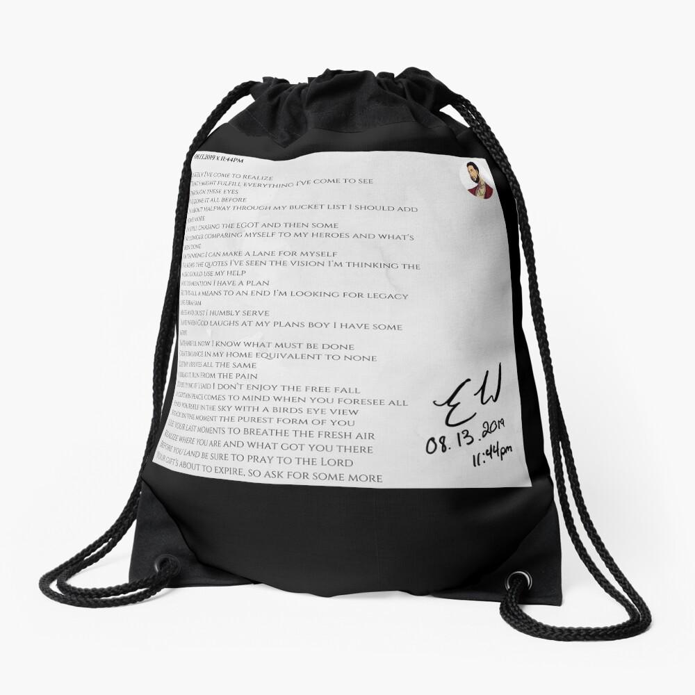 08.13.2019 x 11:44PM Drawstring Bag