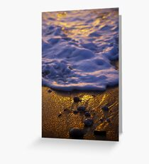 Like pebbles on a beach Greeting Card