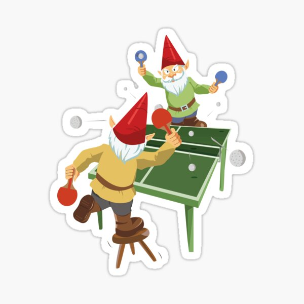 Gnome Pong Sticker