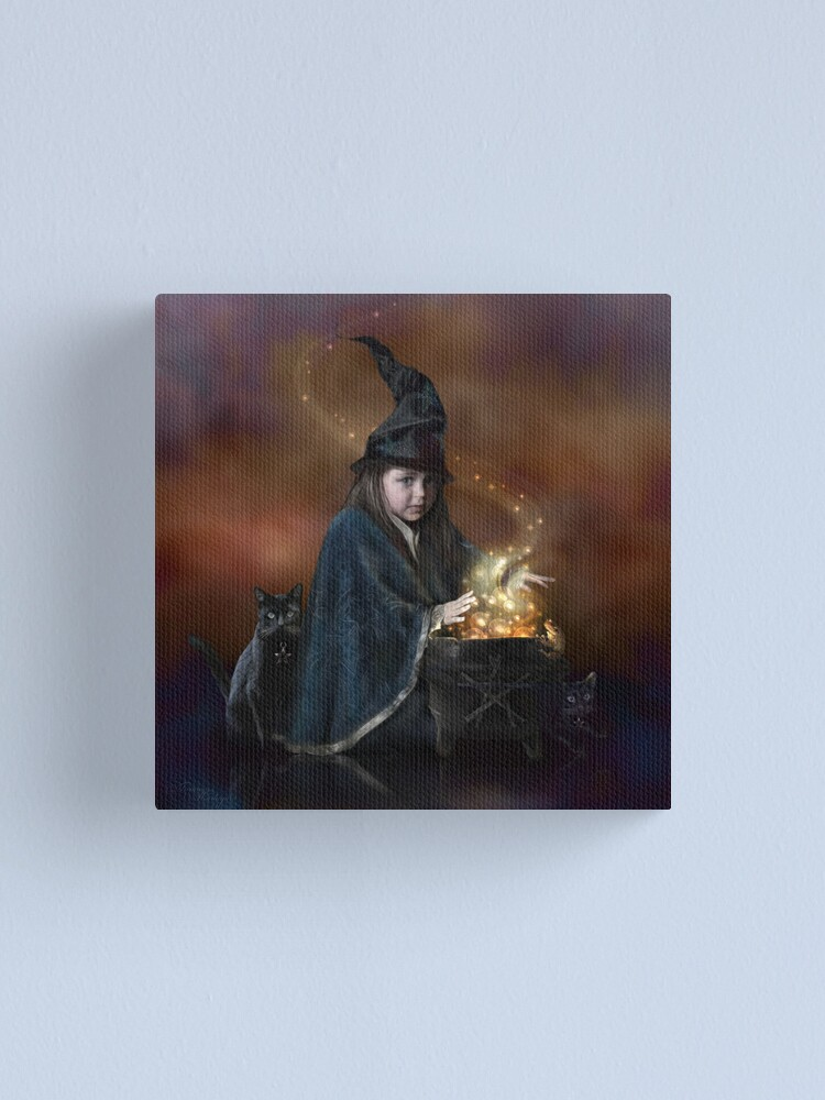 Alternate view of The Little Witch Canvas Print