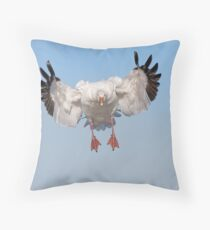 Incoming Snow Goose Throw Pillow