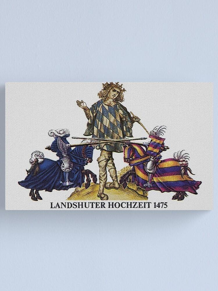 Alternate view of Bavarian Herald ...Landshuter Hochzeit-1475  Canvas Print