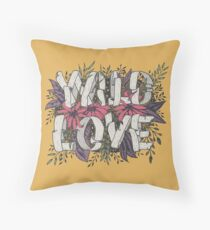 Wild Love - Yellow Throw Pillow