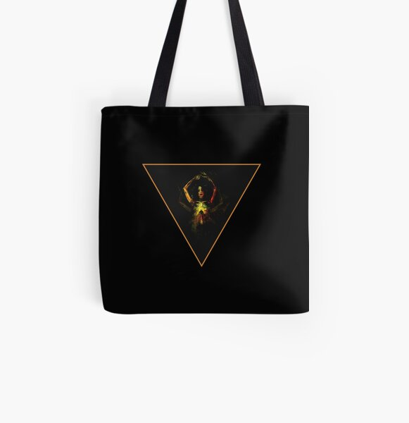 Witch of Wands and Bone All Over Print Tote Bag
