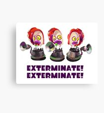 Splatoon! EXTERMINATE, EXTERMINATE! Octobot Canvas Print