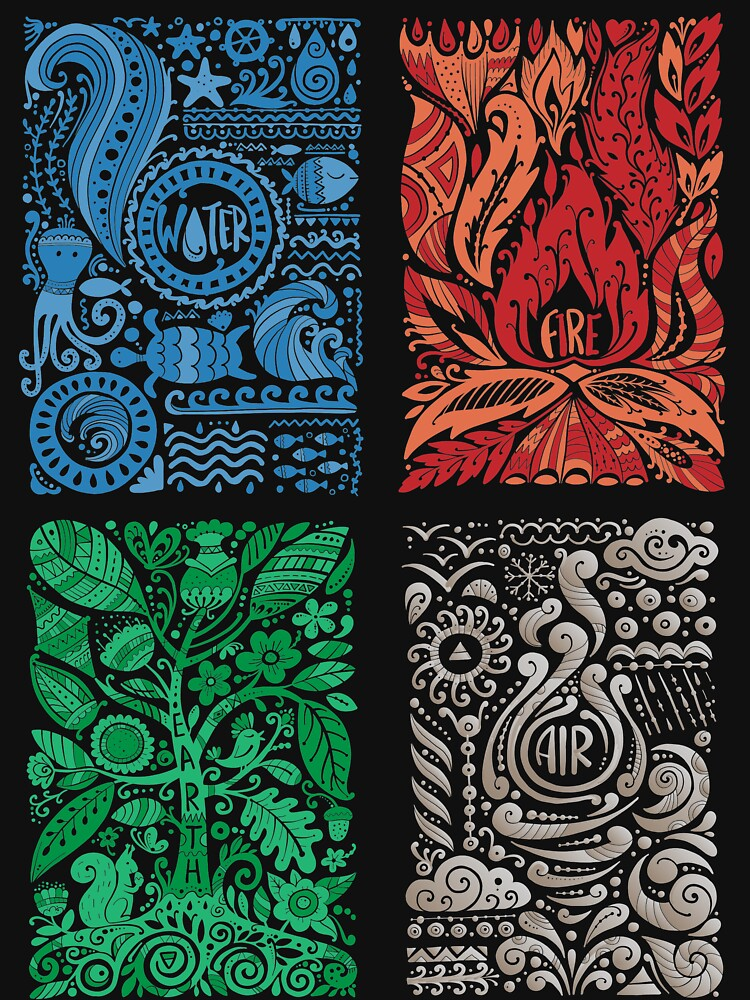 Four Elements of Nature by KingersDesigns
