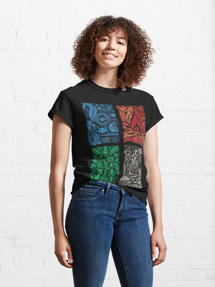 Alternate view of Four Elements of Nature Classic T-Shirt