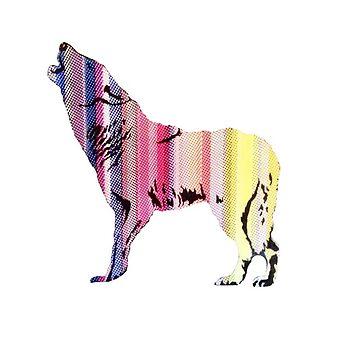 Howling Wolf Rainbow by skegeebeast