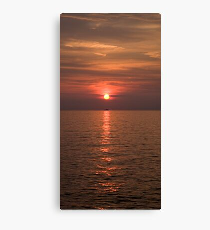 Sunset over Pula Canvas Print